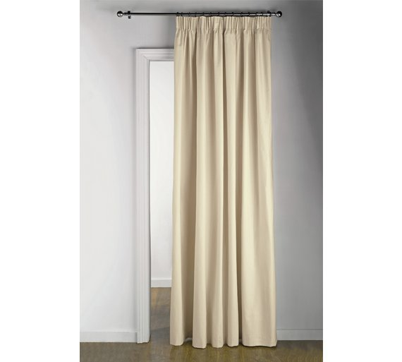 buy argos home thermal door curtain 117x212cm cream curtains