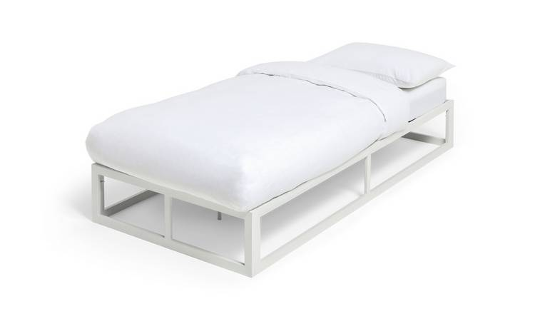 Habitat Platform Single Bed Frame - White