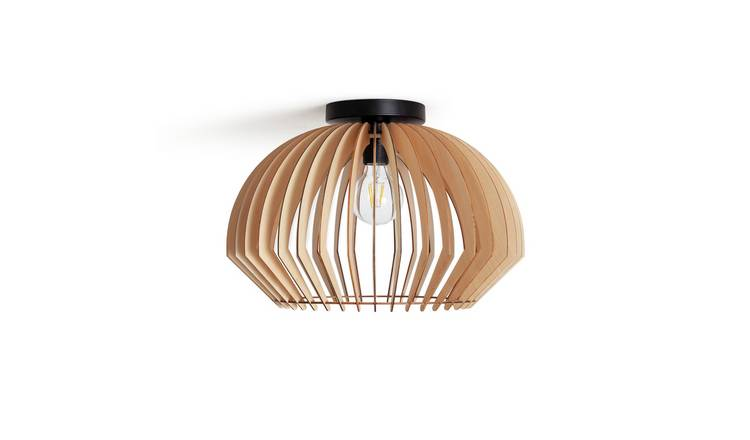 Habitat Achille Flush Ceiling Light - Oak