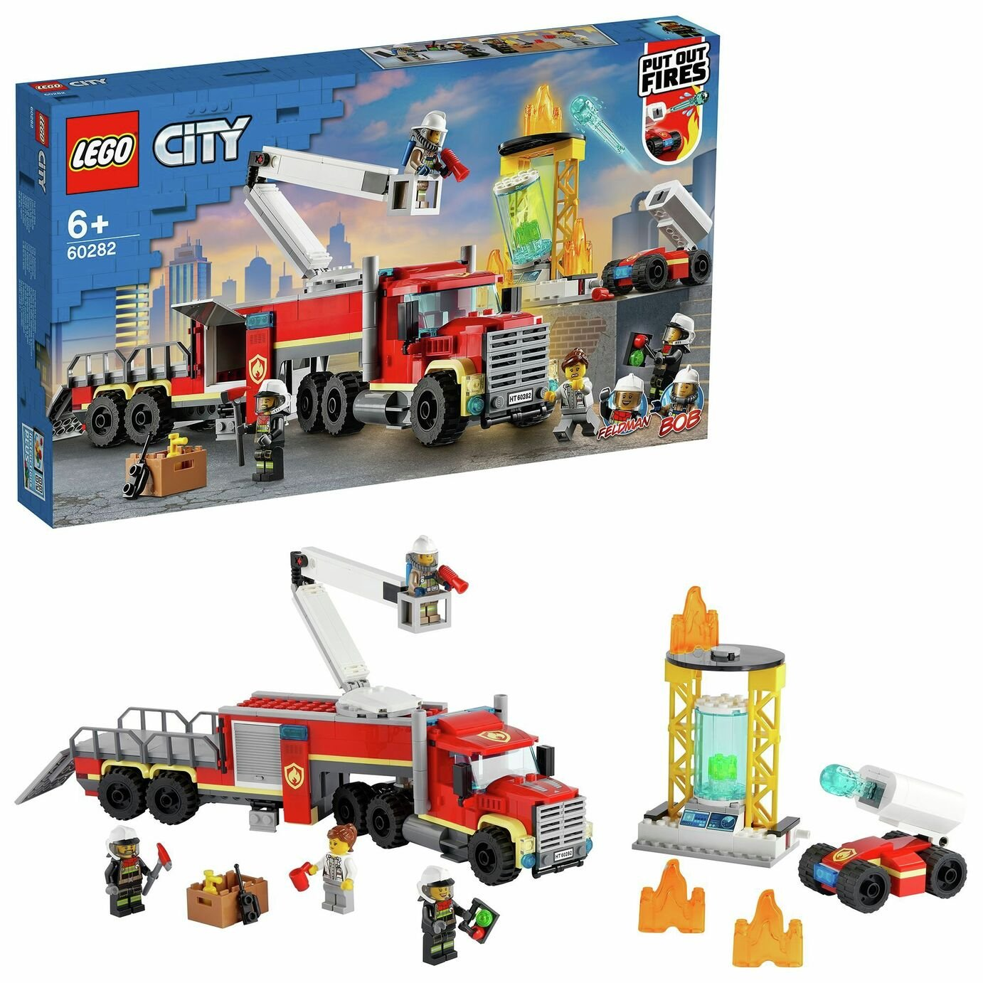 LEGO City Fire Command Unit with Toy Fire Engine 60282