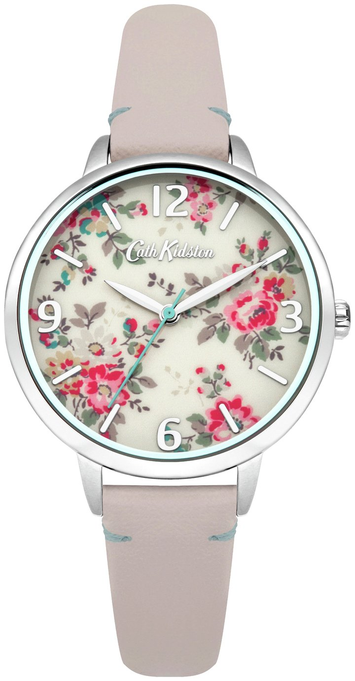 Ladies Cath Kidston Kingswood Rose Nude Leather Strap Watch CKL001PS Best Price and Cheapest