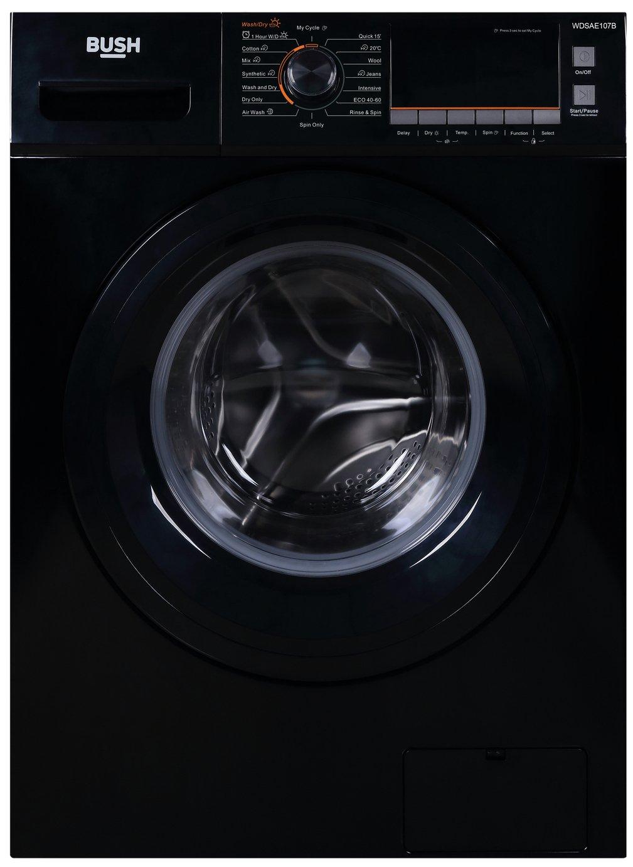 Bush WDSAE107B 7KG/10KG 1500 Spin Washer Dryer - Black