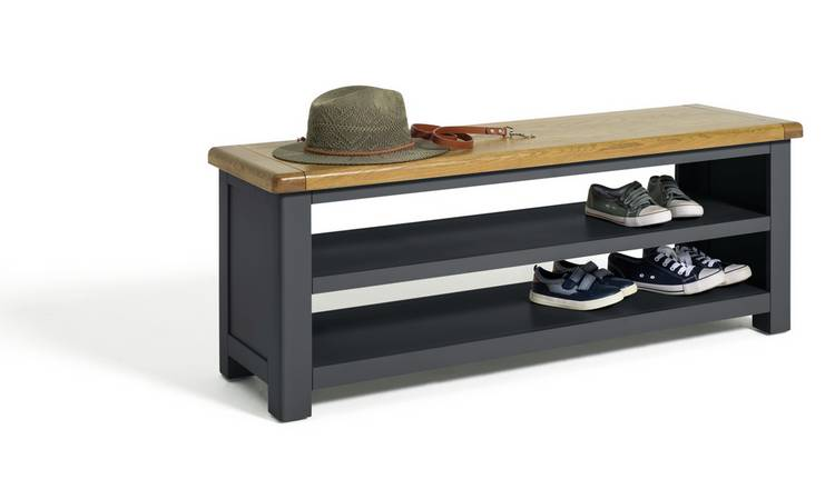 Habitat Kent Shoe Bench - Dark Grey
