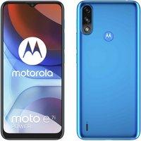 SIM Free Motorola E7i Mobile Phone - Tahiti Blue