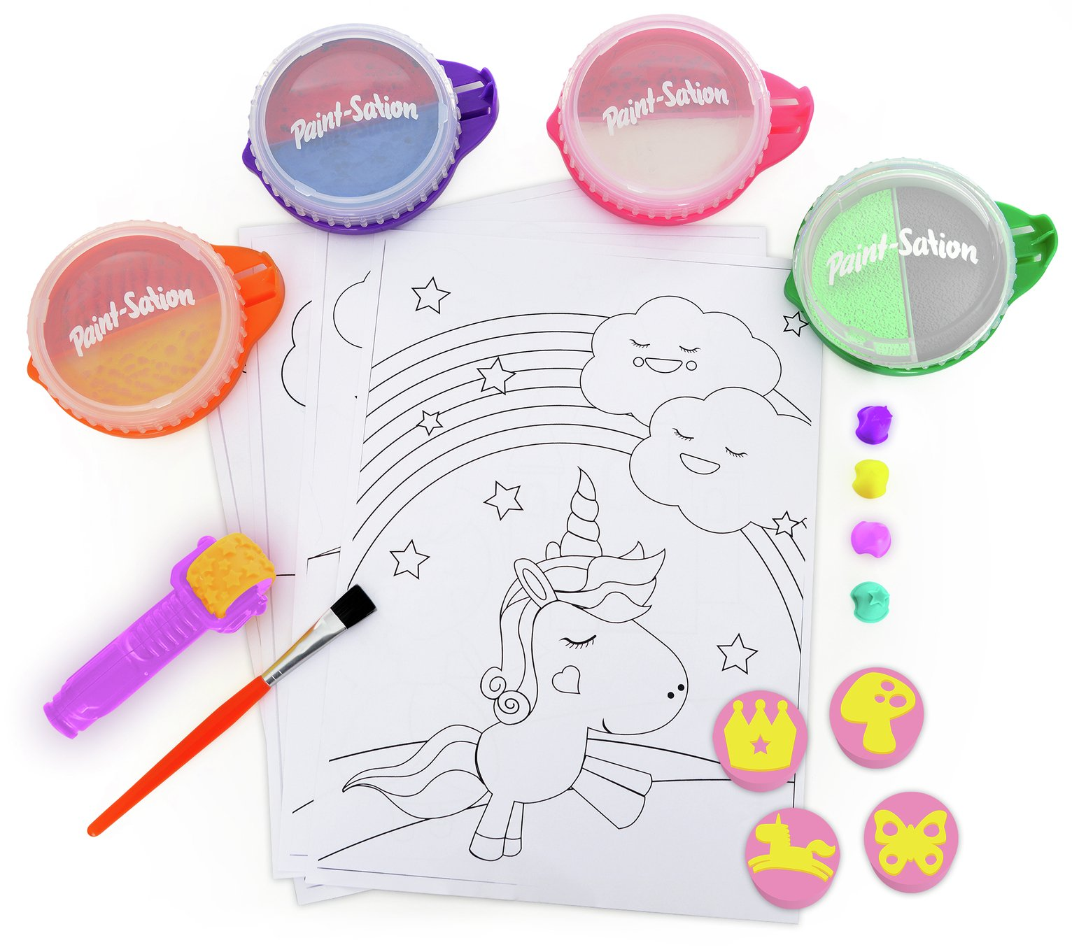Paint Sation Princess Unicorn Paint Set Mess Free & Washable