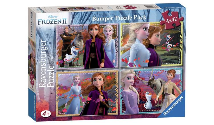 Disney Frozen 2 42 Piece Jigsaw Puzzle - Set of 4