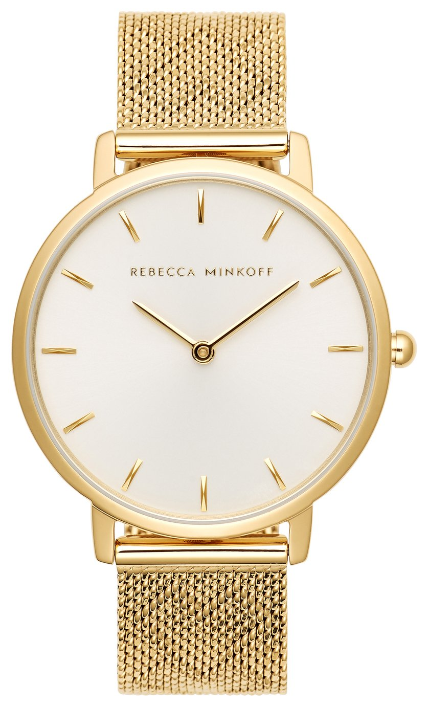 Rebecca Minkoff Ladies Gold Plated Bracelet Watch