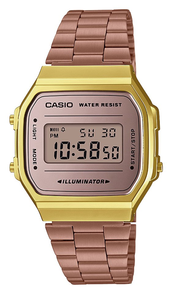 Casio Ladies Rose Gold Stainless Steel Bracelet Watch