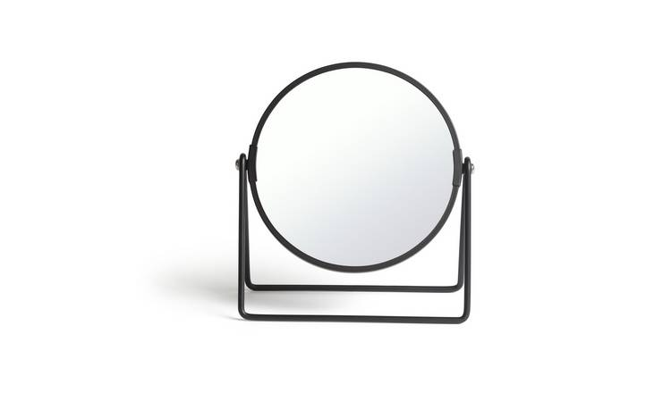 Habitat Metal Swivel Mirror - Matt Black