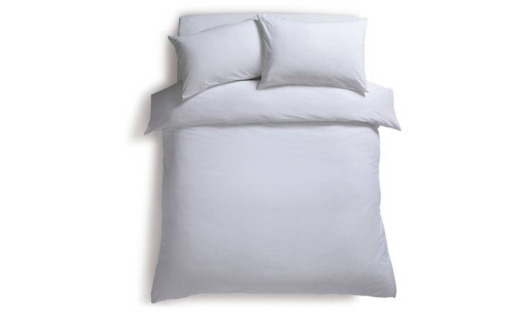 Habitat Washed White Stonewashed Bedding Set - Double