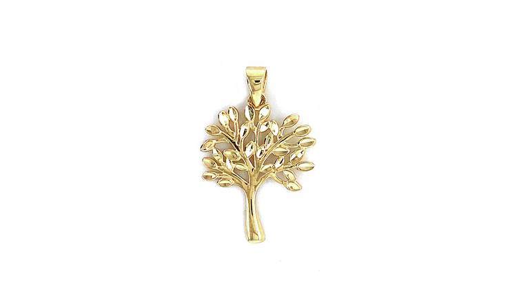 Revere 9ct Yellow Gold Family Tree Pendant Necklace
