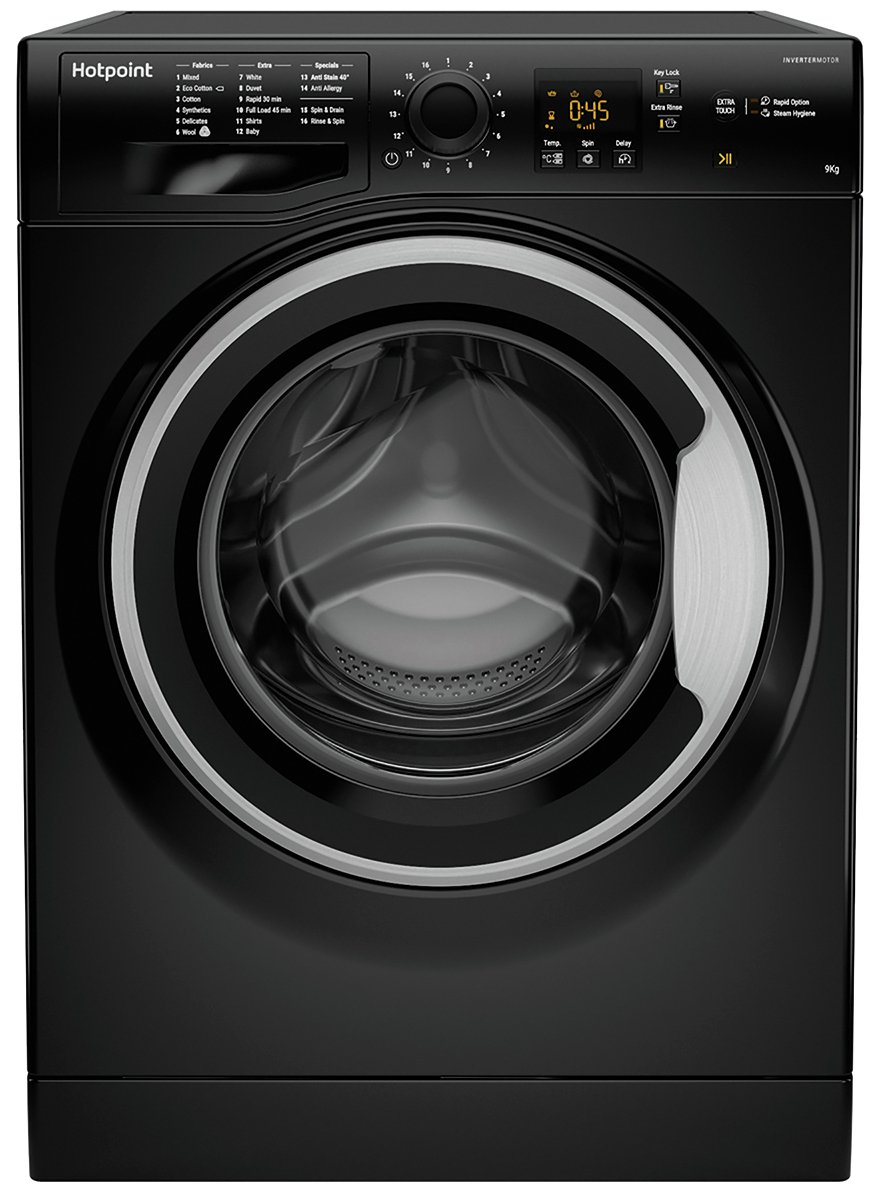Hotpoint NSWM963CBS 9KG 1600 Spin Washing Machine - Black