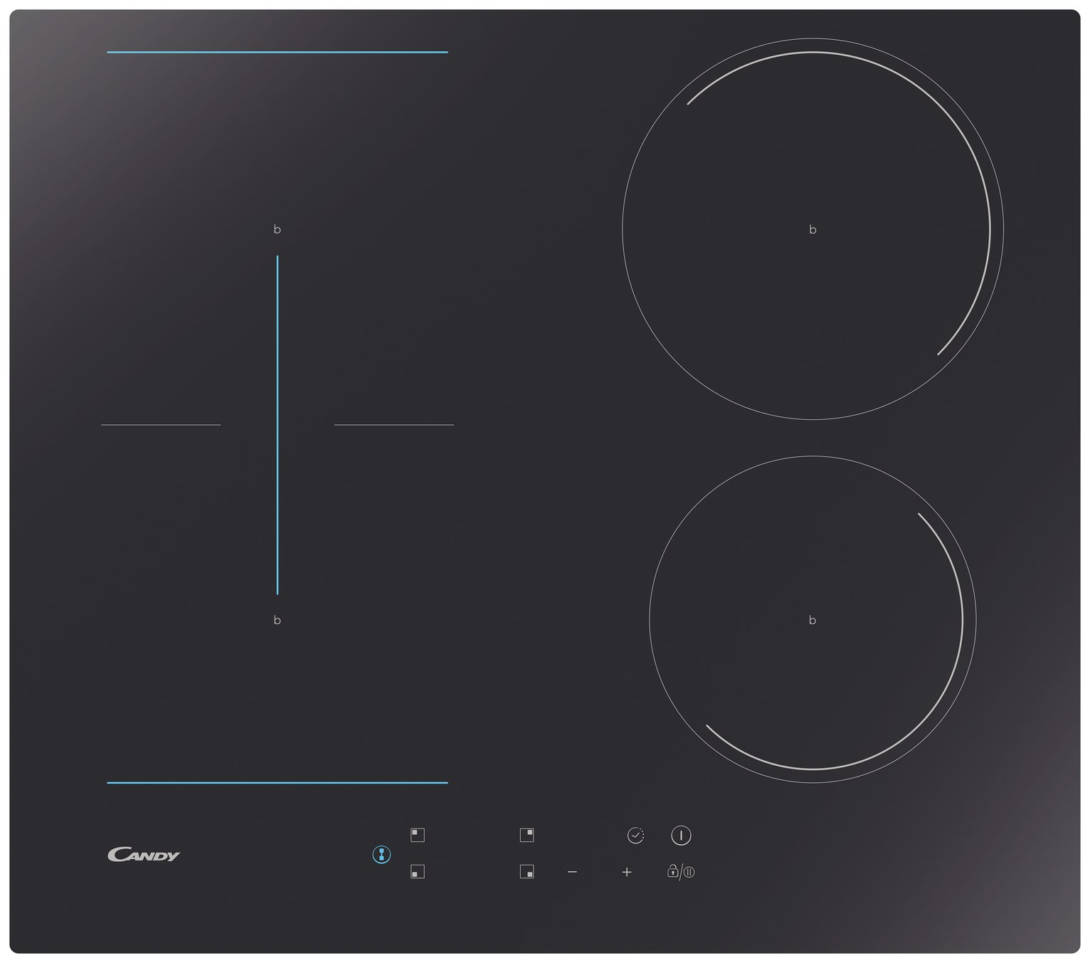Candy CCTP643 60 Induction Hob - Black