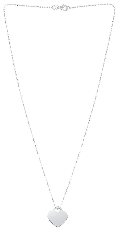 Revere Sterling Silver Heart Locket Pendant Necklace