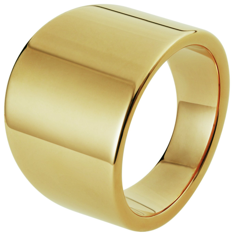 Inara Yellow Gold Plated Ceramic Graduated Ring