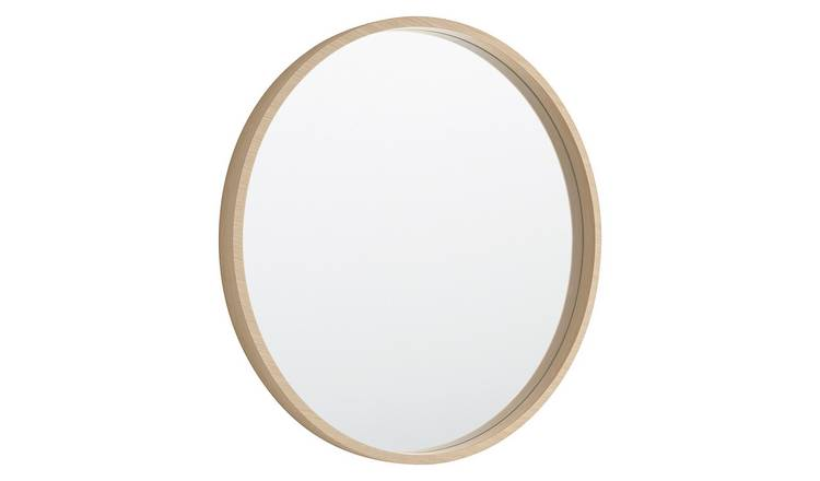 Habitat Ariano Maple Veneer Round Wall Mirror