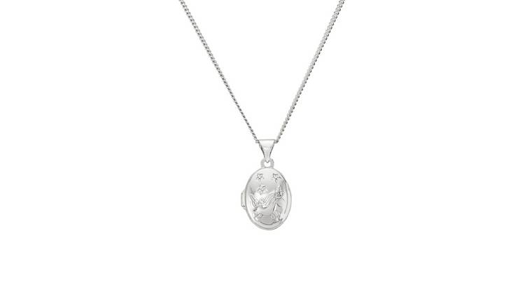 Revere Sterling Silver Unicorn Oval Shape Locket