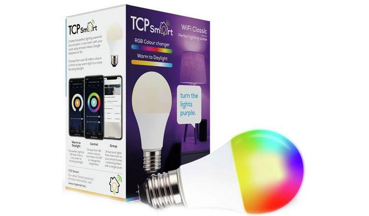 TCP E27 Smart Wi-Fi Multicolour LED Bulb