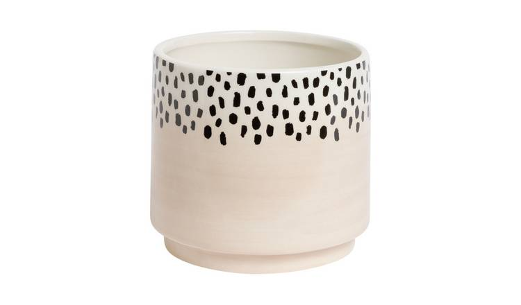 Habitat Novelty Dalmation Planter - Blush
