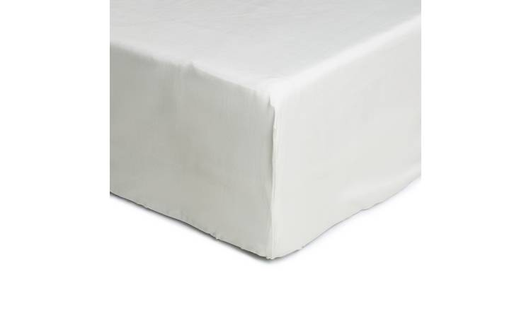 Argos Home Cotton Tencel Fitted Sheet - Single