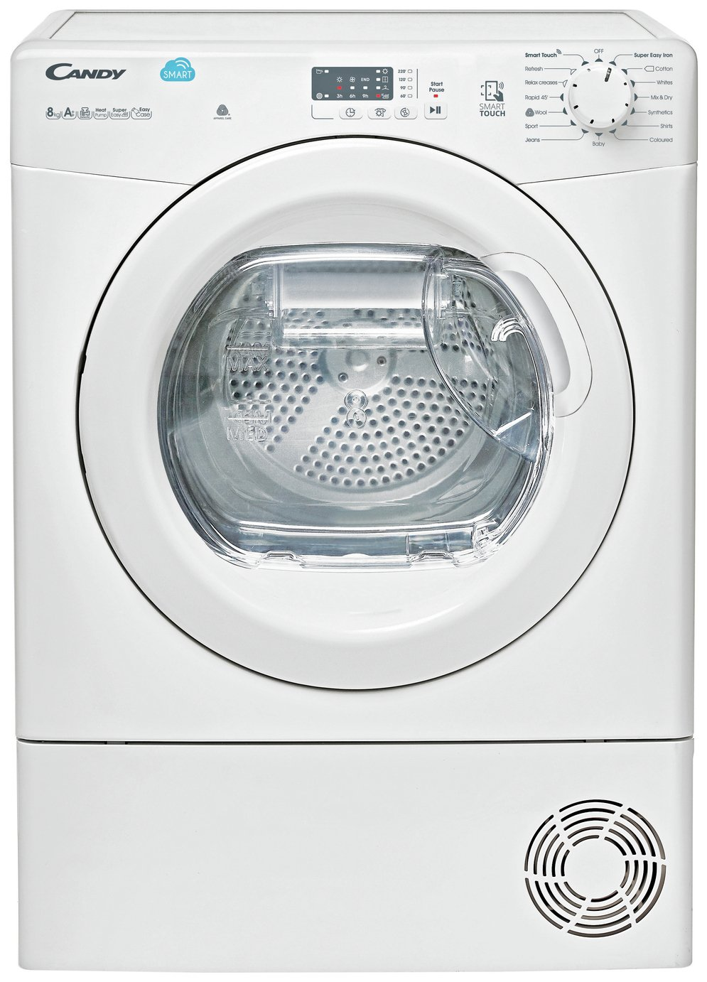 Candy CSH82LE 8KG Heat Pump Condenser Tumble Dryer - White