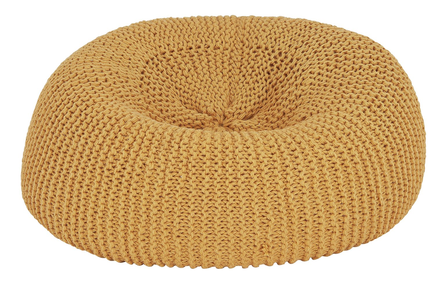 Argos Home Large Wool Beanbag - Ochre