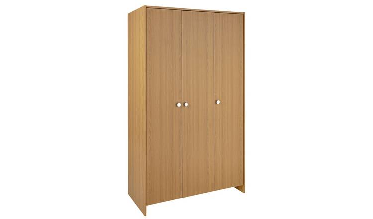 Argos Home Seville 3 Door Wardrobe - Oak Effect