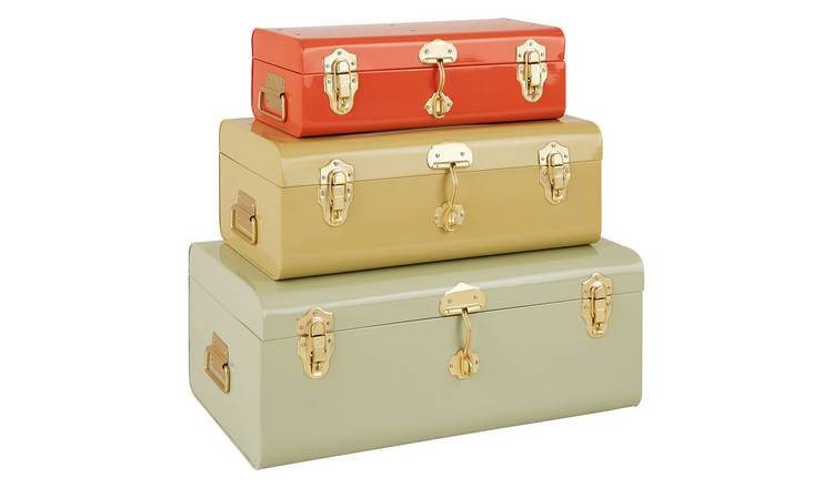 Habitat Trunk Set Of 3 Plain Trunks Pump & Fennel