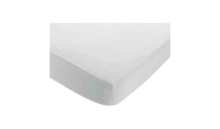 Habitat Linen White Fitted Sheet - Double