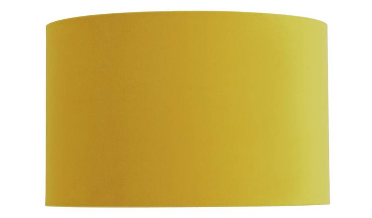 Habitat French Velvet 25cm Shade - Yellow
