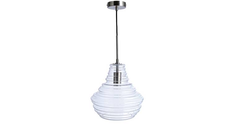 Habitat Saoirse Pendant Ceiling Light - Glass