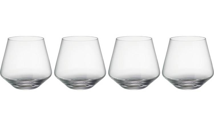 Habitat Hamburg Set Of 4 Whisky Glasses