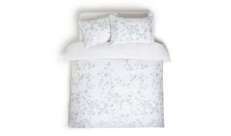 Habitat Textured Look Reversible Green Bedding Set - Double
