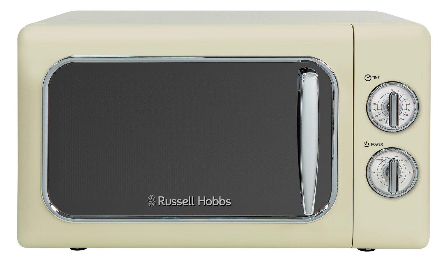 Russell Hobbs 700W Retro Standard Microwave RHMM717C - Cream