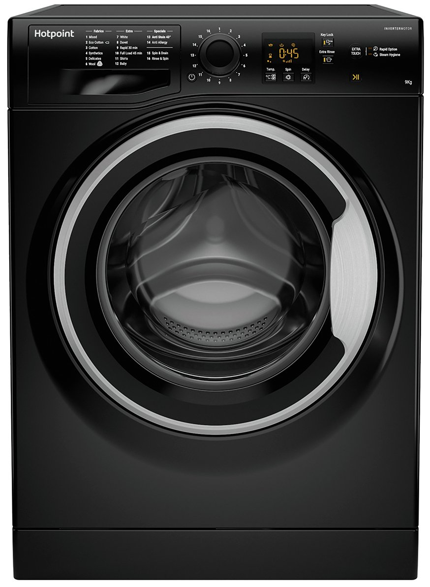 Hotpoint NSWM943CBS 9KG 1400 Spin Washing Machine - Black