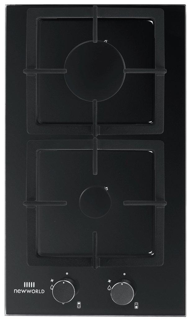 New World NWLED30BG Electric Gas Hob - Black