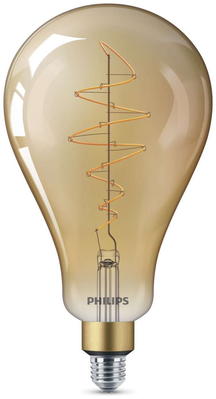 Philips LED Filament E27 6.5W (40W) Dim Giant Bulb - Gold