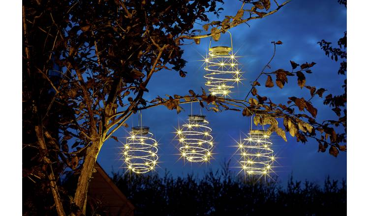 Argos Home Solar Mini Wire Lanterns - 4 Pack
