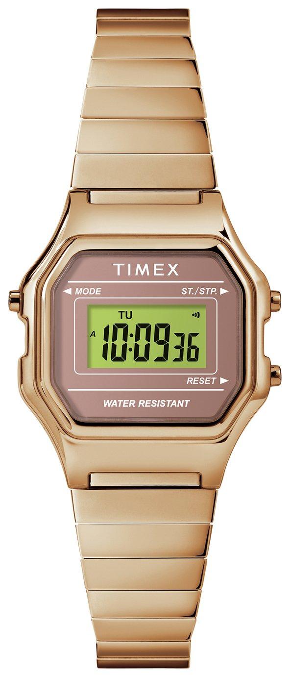 Timex Rose Gold Coloured Resin Bracelet Watch