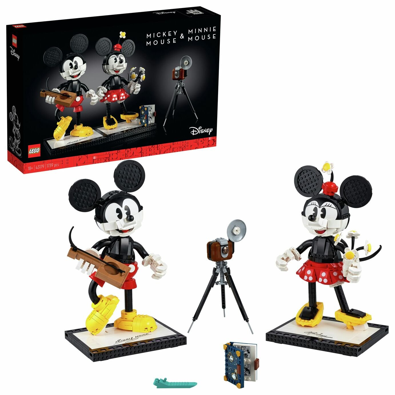 LEGO 43179 Disney Mickey Mouse & Minnie Mouse Buildable Characters