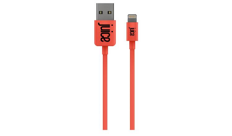 Juice USB A to Lightning 1m Charge Cable - Coral