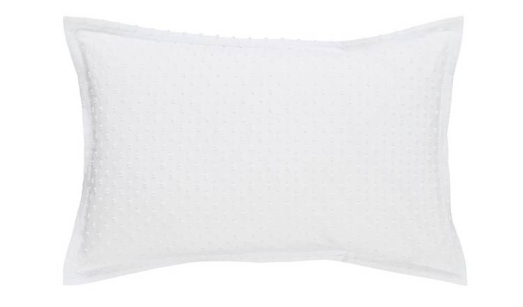 Habitat Camila Cotton Standard Pillowcase Pair - White