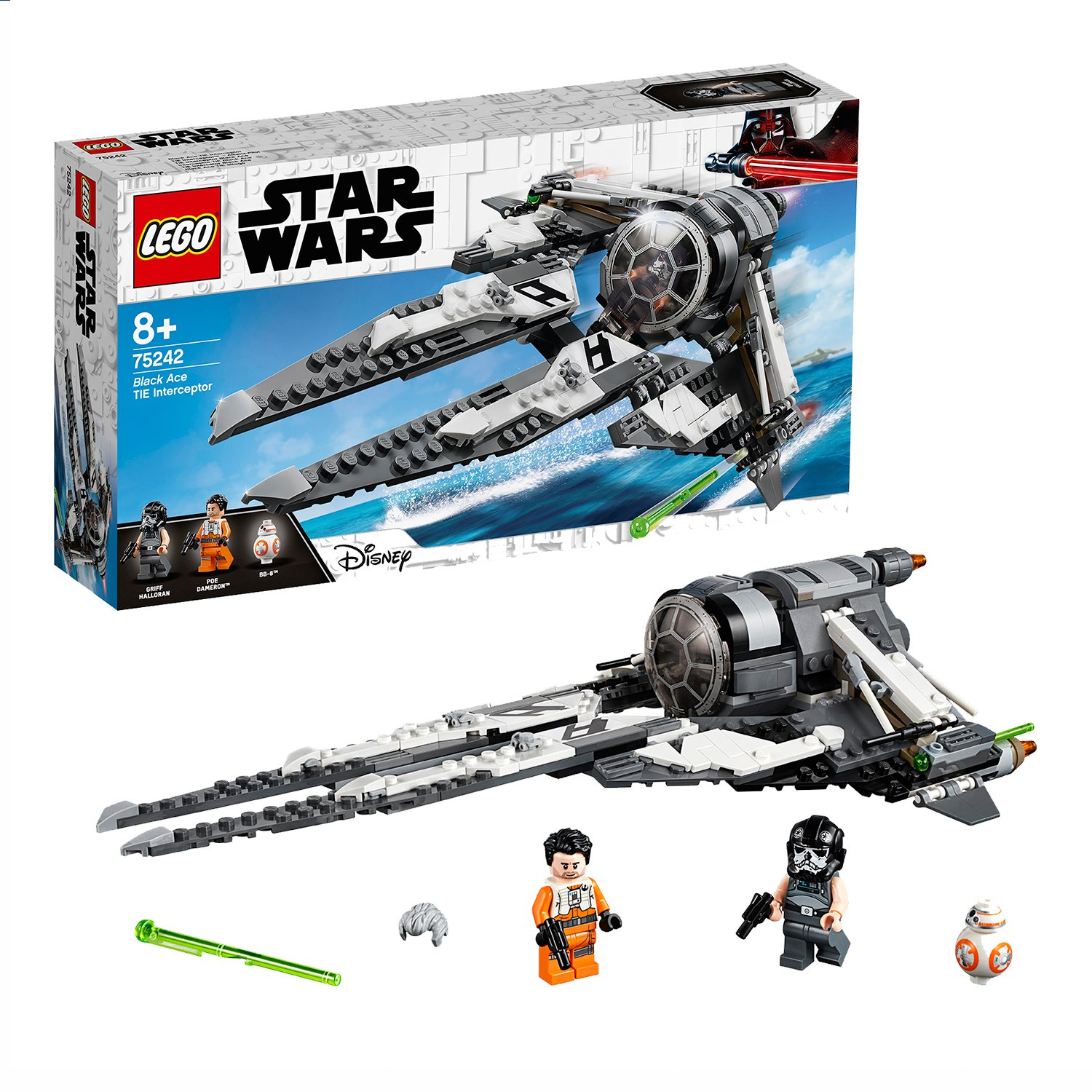 LEGO Star Wars Resistance Black Ace TIE Interceptor - 75242