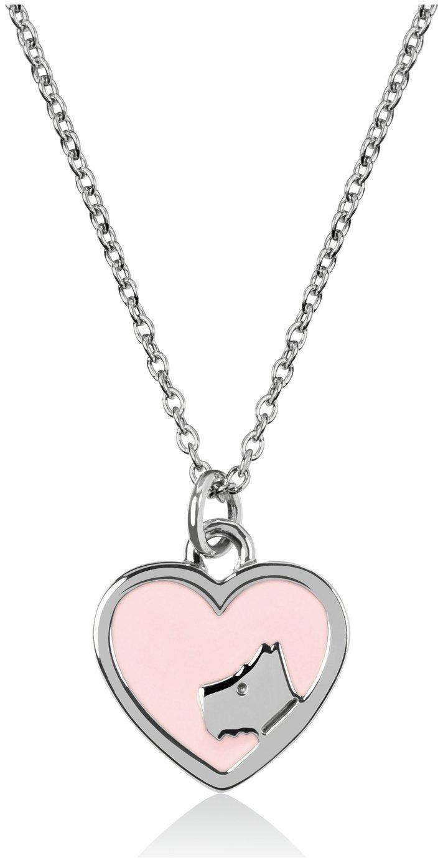 Radley London Sterling Silver Pink Heart Charm Pendant