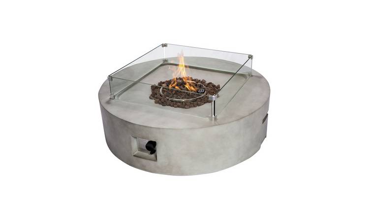 Buy Peaktop Hf42408aa Uk Gas Fire Pit With Cover Fire Pits Argos