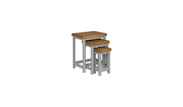 Habitat Kent Nest of 3 Tables - Light Grey