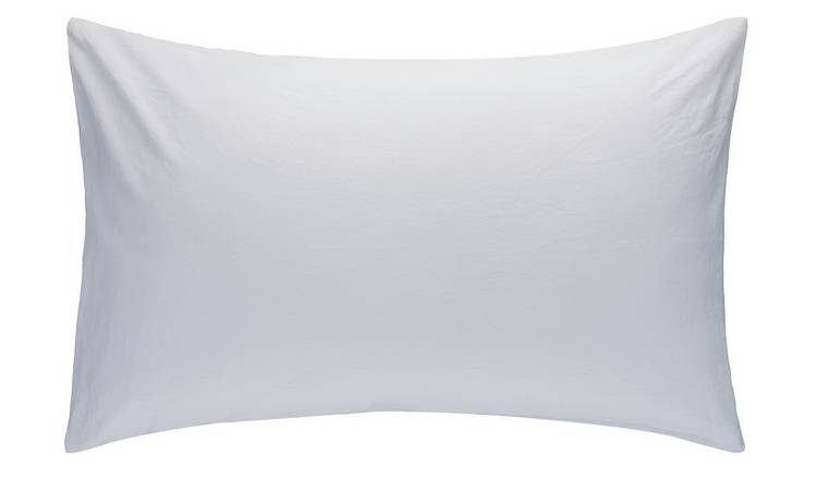 Habitat Washed Cotton Standard Pillowcase Pair - White