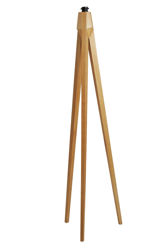 Habitat Tripod Wooden Floor Lamp Base Only - Ash