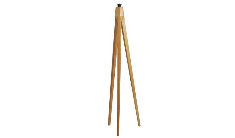 Habitat Tripod Wooden Floor Lamp Base Only - Ash