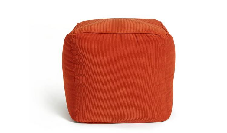 Habitat Mid Century Pouffe - Orange
